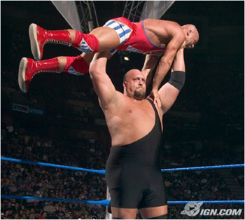 Big show pressing Kurt