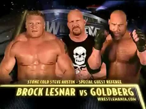 Brock vs Goldberg WM 20