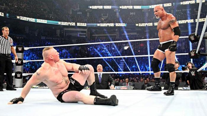Survivor Series 2016 Lesnar vs Goldberg