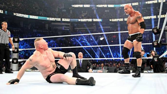 Survivor Series 2016 Lesnar vs Goldberg